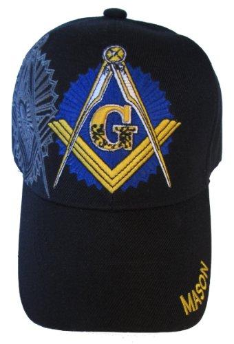 USA Headwear Freemason Embroidered Black Adjustable Hat Mason Masonic Lodge Baseball Cap (Black)