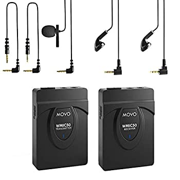 Movo 2.4GHz Wireless Lavalier Microphone System - Smartphone Clip On Microphone Compatible with Apple iPhone X XS XS Max 11 11 Pro Max Samsung Galaxy Note Smartphones DSLR Cameras + More