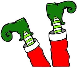 Footloose Elf Santa's Little Helper Legs Automotive Christmas Decor Magnet, 10 Inch