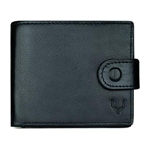 Pelle Toro Handmade Mens Leather Wallet in Wooden Mens Gift Box, with Coin Pocket, RFID Blocking Wallet, Soft Durable Leather, Charcoal Black