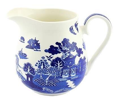 Leonardo Collection Pichet en Osier, Bleu, Porcelaine, M