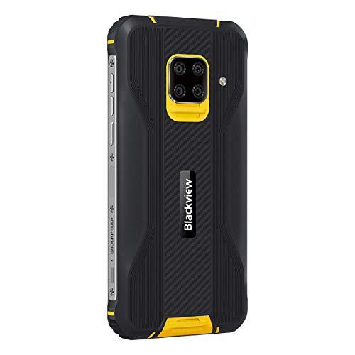 Blackview BV5100 5.7 pollici Octa-Core 4GB + 128GB 5580mAh Fotocamera Sony 16MP Android 10.0 NFC IP68 e IP69K MIL-STD-810G Smartphone Resistente - Giallo