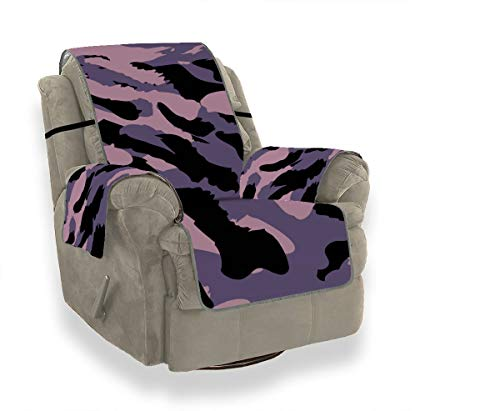CHQTG Sofa Slipcover Home Fashion Camouflage Pattern Camo Fashion Slipcover Furniture Protector21 Inch, Ideal Recliner Slipcovers for Pets & Children