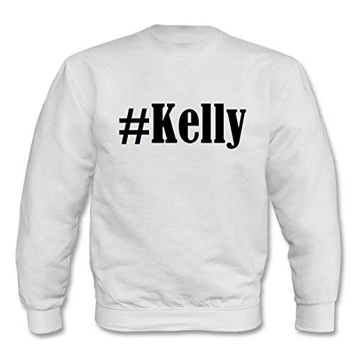 Reifen-Markt Sweatshirt Damen #Kelly Größe M Farbe Weiss Druck Schwarz