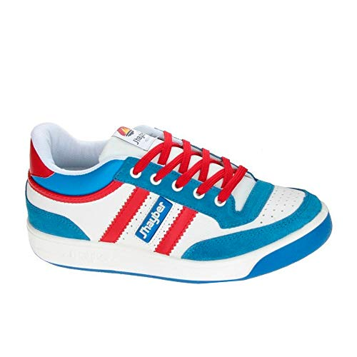 J´hayber 66007, Sneaker Unisex Adulto, Blanco-Royal-Rojo, 45 EU