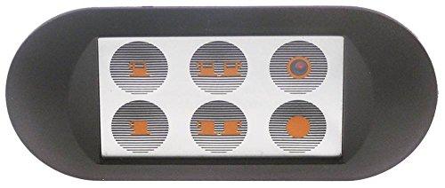 Toetsenbord eenheid voor espressomachine Ascaso Arianna, Compac, kwaliteit espresso-voetmat met aansluiting en ledverlichting, 5 toetsen