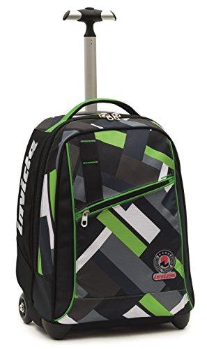 Invicta School 206001635-899 Trolley Zaino, Spallacci a Scomparsa, 35, litri, Poliestere, Nero