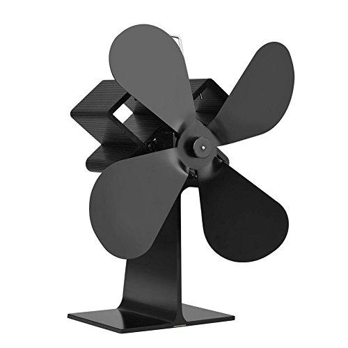 Fancylande ventilator voor kachels, 4 vleugels, stil, stroomvoorziening door warmte
