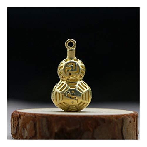 Vorhanden Anhänger Copper Hohl Kürbis Schlüsselanhänger Chinesischer glückliches Auto Keychain hängender Anhänger Schmuck Retro Messing-Mädchen-Rucksack-Dekoration-Geschenk ( Color : Gold Gourd )