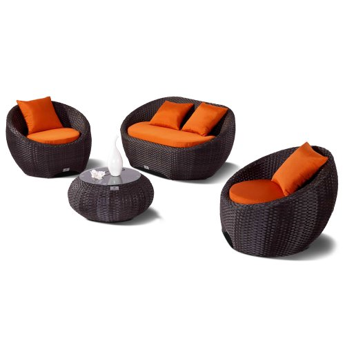 Nikkigarden Sofa Set Porto 6-string braun