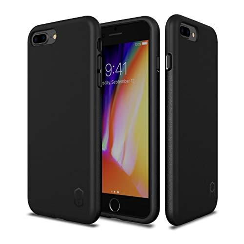 QNNEL ITL-317718 Beschermhoes voor iPhone 8 Plus/7 Plus, zwart, TPU, extreem schokbestendige corns, volledige bescherming, handtas, beschermhoes, extreem stootvast, hoekbescherming