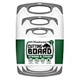 Freshware Cutting Board with Juice Grooves, Reversible, BPA-Free, Non-Porous, Dishwasher Safe, Kitchen, Set of...