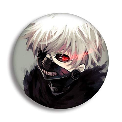 Haushele OFD Anime Tokyo Ghoul Weißblech Brosche Pins Pins Abzeichen Zubehör Für Kleidung Rucksack Dekoration( A-H04)
