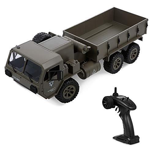 Funien Camión Militar RC, 1/12 RC 6Wd 2.4Ghz Camión Militar del ejército Camión Todoterreno Coche RTR Coche Regalo para Adultos Niños Niños