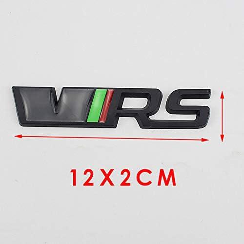 D28jd Vrs Logo Emblem For Tailgate Tailgate Trunk Metal Letters Sticker For Skoda Black Küche Haushalt
