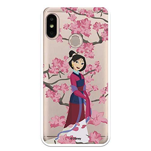 Funda para Xiaomi Mi A2 Lite - Redmi 6 Pro Oficial de Mulan Mulan Vestido Granate para Proteger tu móvil. Carcasa para Xiaomi de Silicona Flexible con Licencia Oficial de Disney.