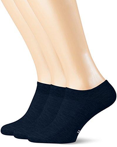 POMPEA Cotton Calzini alla Caviglia, Blu (Blu 0070), (Taglia Produttore:39/42) (Pacco da 3) Uomo