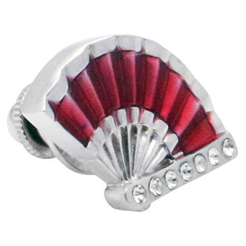扇 扇子 団扇 レッド ピンズ ラペルピン p0233