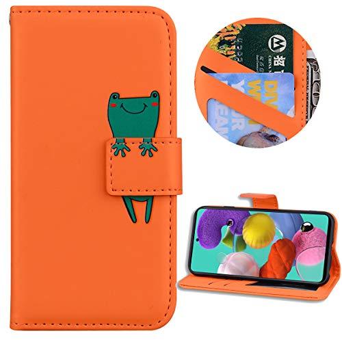 Nadoli Brieftasche für Samsung Galaxy A30S,Karikatur Tier Muster Weich Tpu Innere Buchstil Pu Leder Magnetverschluss Kartenfächer Flip Schutzhülle Ledertasche