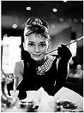 Poster Wandkunst 60x80cm rahmenlose Audrey Hepburn
