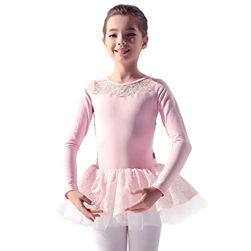 Xiao Jian danskleding - kinderen danskleding meisjes balletoefening kleding top lange mouwen met rokken tansivorm