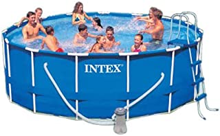 Intex 15-Foot by 48-Inch Metal Frame Pool Set