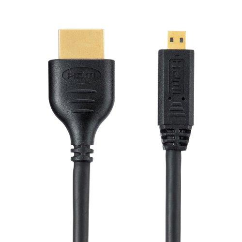 サンワサプライイーサネット対応ハイスピードHDMIマイクロケーブル3mブラックKM-HD23-30