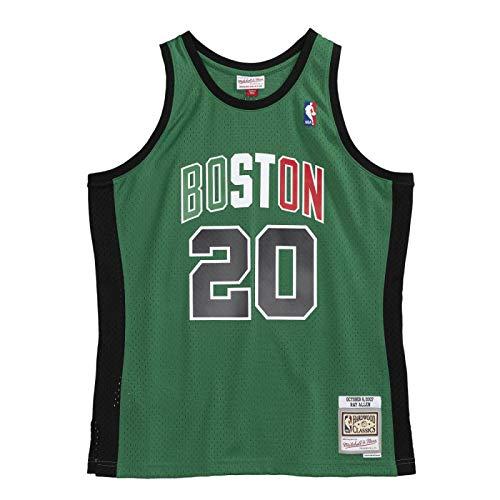 Mitchell & Ness - Maglia NBA Ray Allen Boston Celtics 2007 Hardwood Classics, colore: Verde, Nero , M