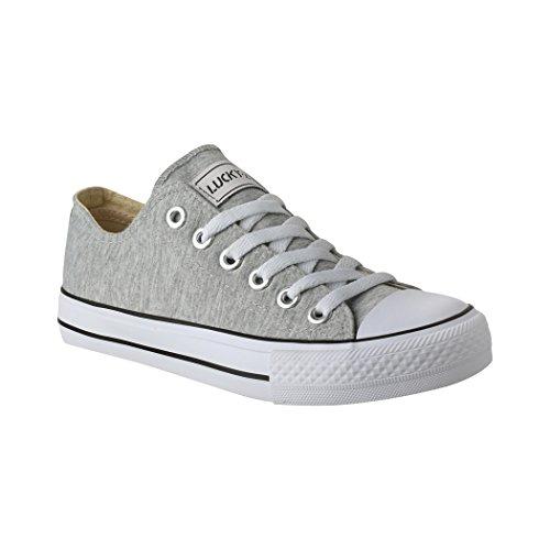 Elara Zapatos de Deporte Unisex Textil Low Top Chunkyrayan Gris Oscuro CA01-CB09 lt Grey-36