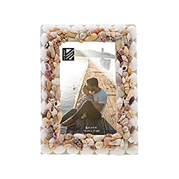 Photo Frame Beach Theme Seashell Covered Real Shell Picture Frame