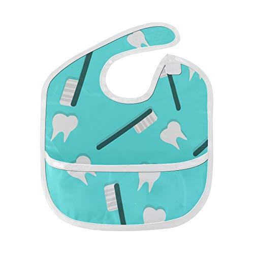 Drool Bibs Boy Cartoon Süße Zahnbürste Zahnpasta Lustige Lätzchen für Jungen Soft Stain Baby Fütterung Dribble Drool Bibs Rülpsen für Kleinkinder 6-24 Monate