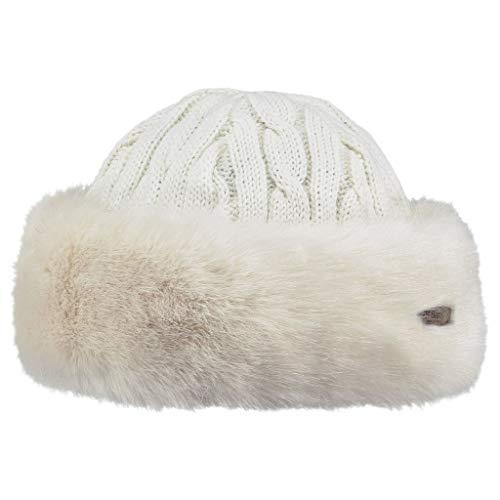 Barts Fur Cable Berretto, Donna, Bianco, Taglia unica