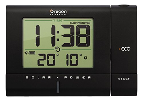 Oregon Scientific RM 336 PES Solar klok zwart
