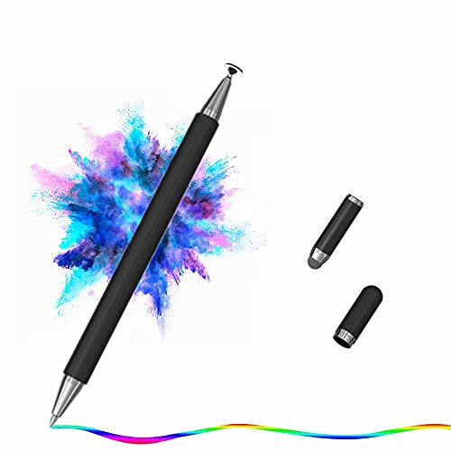3 in 1 Penna per Tablet,Stylus Penna con Punta del Disco Punta Fine Penna Gel,Cappuccio di Copertura magnetismo,Penna Touch per iPad iPhone Smartphone Android