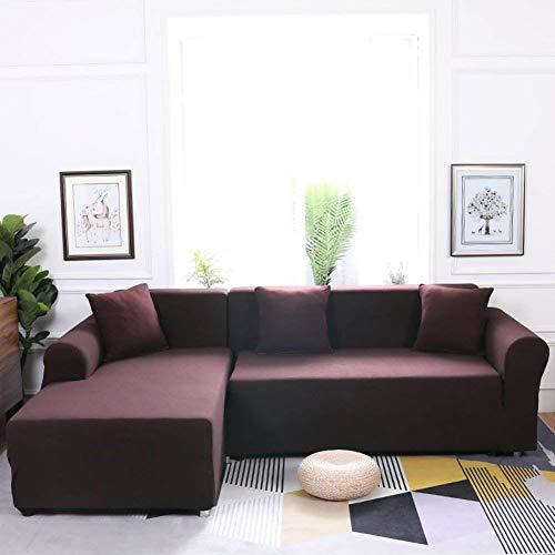 Jonist Funda de sofá elástica, Funda de sofá Multiusos Antideslizante de Varios tamaños Universal Simple para sofá de Tela de Cuero x 4 plazas