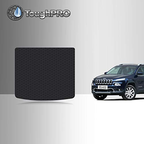 TOUGHPRO Cargo/Trunk Mat Accessories Compatible with Jeep Cherokee - All Weather - Heavy Duty - (Made in USA) - Black Rubber - 2019, 2020, 2021