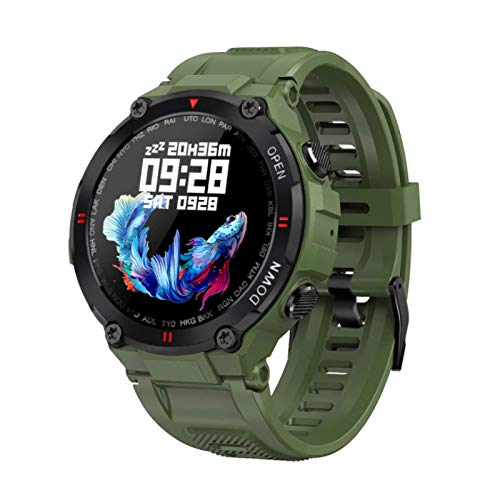 K22 Smart Watch, Fitness Tracker,2021style, Ip65 Waterproof, with Oxygen Saturation, Bluetooth Call, Children's Male and Female Pedometer,Removable Strap(Green)