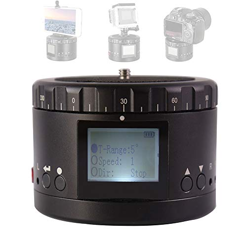 Elektrischer Panoramakopf aus Aluminiumlegierung, Flüssigkeitskopf der 360 ° -Dreh-Zeitrafferkamera, für spiegellose Spiegelreflexkameras von GoPro Smartphone SLR