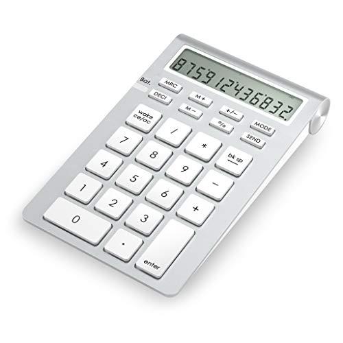 Cateck Bluetooth Numeric Keypad, Wireless Numeric pad with Calculator for iMac, MacBooks, PCs, Bluetooth Numeric keypad for Laptop, Wireless 10 Key Number pad for mac, Ten Key MacBook pro Calculator