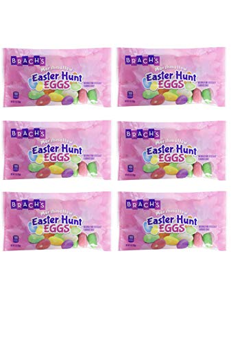 Brachs Marshmallow Easter Hunt Eggs Candy - Pack of 6 Bags - 9 oz per Bag