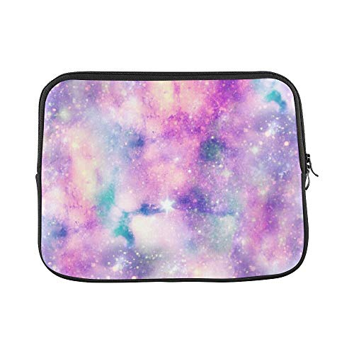 Design Custom Starry Galaxy Print Unicorn Colours Sleeve Soft Laptop Case Bag Pouch Skin for Air 11'(2 Sides)