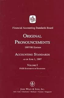 Original Pronouncements 1997/98: Accounting Standards As of June 1, 1997 : Fasb Statements of Standards (ACCOUNTING STANDARDS ORIGINAL PRONOUNCEMENTS VOLUME I)
