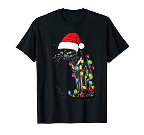 Katzen-Weihnachtslichter T-Shirt