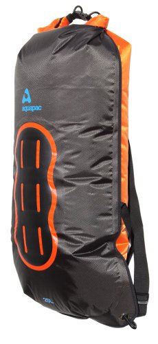 AQUAPAC wasserdichter Wet & Dry-Beutel Noatak, schwarz-orange, 25 liters, 778