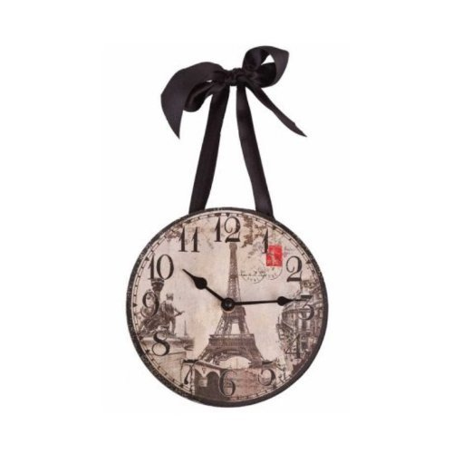 DCI 1 X Wall Clock - Paris/Eiffel Tower Vintage Images