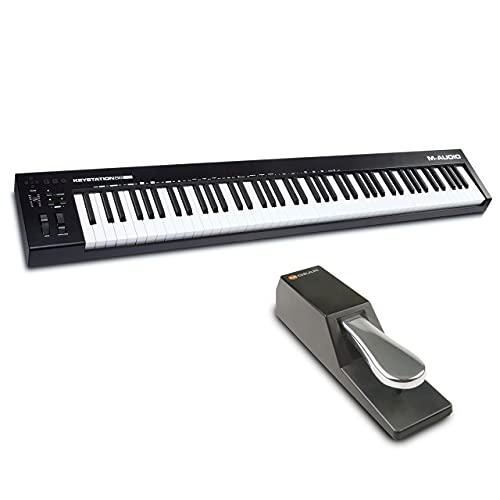 M-Audio Keystation 88 MK3 + SP-2 - Teclado controlador MIDI USB con 88...