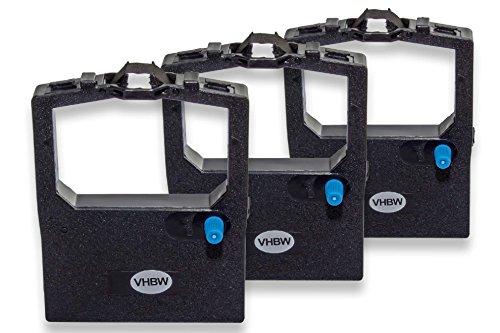 vhbw 3x Cinta de tinta de nailon para su impresora matricial OKI Microline ML-182, ML-183, ML-192, ML-193, ML-280, ML-320 como 9002303.