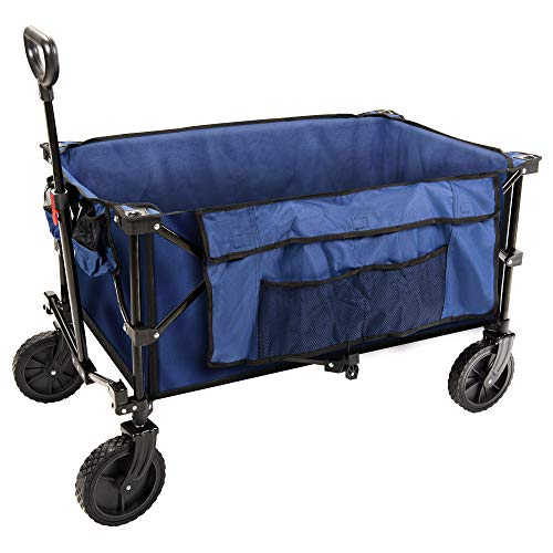 Coastrail Outdoor Collapsible Folding Wagon Utility Garden Cart 180lbs Heavy...