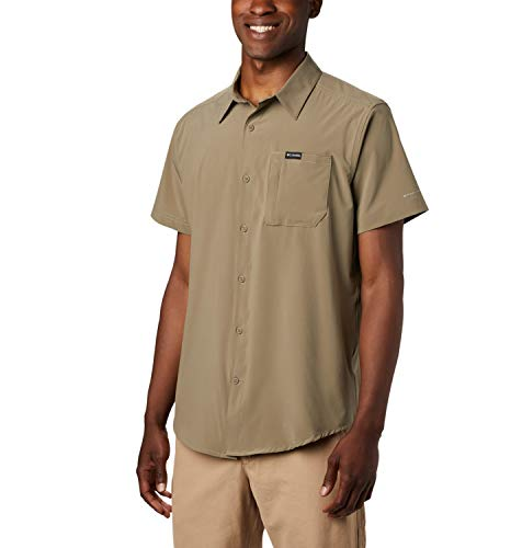 Columbia Triple Canyon Camisa de Manga Corta, Hombre, Verde (Sage), XL
