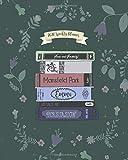 2020 Weekly Planner: Jane Austen Weekly & Monthly Planner + Calendar, productivity log   Floral Literary Book Stack